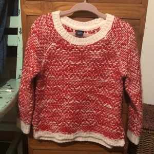 Baby Gap red and white sweater